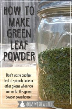 Don't let that pile of greens in your crisper drawer going bad shame you. Show them what for by dehydrating them and making this powerhouse of a powder to add more nutrition to your family meals! Dehydrated Food, Dehydrated Vegetables, Clean Eating, Healthy Eating, How To Make Greens, Green Powder, Homemade Seasonings, Dehydrator Recipes, Spice Mixes