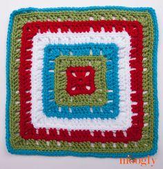 Moogly Afghan CAL Block #19 - Bold Squares! Free #crochet pattern!