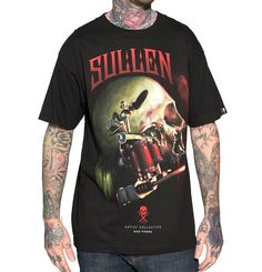 We've got Sullen Clothing merch! Like this 100% Cotton tee with oversized printed full color graphics on front and back featuring artwork by Rich Pineda from Southern California. #YYC #Airdrie #YYCArt
