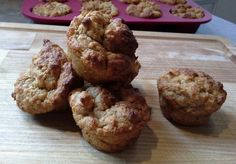 Muffins aux bananes avec céréales pour bébés.