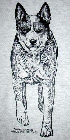 AUSTRALIAN CATTLE Dog aka Queensland Heeler  by iamfinebydesign, $21.00