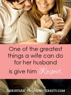 One of the greatest things a wife can do for her husband is give him respect. When I first married Eric, I didn't know what respecting him looked like. But over the course of our marriage, I learned. Here are 9 ways to show your husband respect. Christ Centered Marriage, Biblical Marriage, Marriage Relationship, Marriage Tips, Happy Marriage, Love And Marriage, Relationships, Christian Wife, Christian Marriage