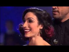 Meryl Davis & Maksim Chmerkovskiy - Tango - YouTube **** FANTASTIC ****  The dancing starts at about the 3:40 mark.