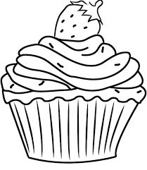 pretty cupcake coloring page  free printable coloring pages  back to school  pinterest