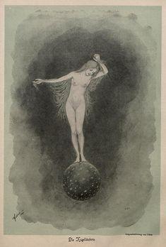 .Die Kugelläuferin by Fidus from Jugend 1896