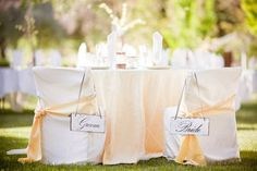 Gover ranch groom and bride tables