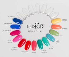 Gel Nail Polish Colors, Gel Nails, Banana Cocktails, Indigo Nails, Vernis Semi Permanent, Top Nail, Almond Nails, Winter Nails, Shadows