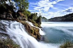 Why do we love waterfalls? Because they get to run around outside and jump. Rhine Falls Switzerland, Hd Nature Wallpapers, Les Cascades, World Pictures, Main Attraction, Run Around, Cool Wallpaper, Natural Wonders, Fun To Be One
