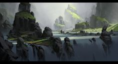 Landscape Concept by JadrienC on DeviantArt
