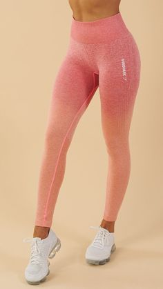 Soft and stunning with a second-skin feel, the Gymshark Ombre Seamless Leggings are designed to flatter, support and enhance. Coming soon in Peach Coral. Workout Attire, Workout Wear, Workout Outfits, Workout Tanks, Gym Style, Sporty Style, Sporty Outfits, Cute Outfits, Running Wear