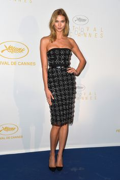 Karlie Kloss Strapless Dress - Strapless Dress Lookbook - StyleBistro