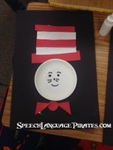 SLPirates: Dr. Seuss craft with a variety of concepts Speech Therapy Worksheets, Speech Therapy Activities, Speech Language Pathology, Language Activities, Infant Activities, Speech And Language, Craft Activities For Kids, Preschool Crafts, Kids Crafts