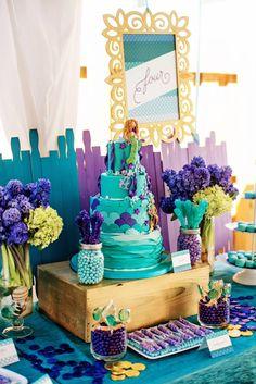 Splish Splash Mermaid Bash Birthday Party via Kara's Party Ideas KarasPartyIdeas.com Printables, decor, cake, favors, tutorials, cupcakes, and more! #mermaidparty #mermaidbash #mermaidcake #mermaid (8)
