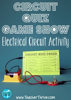 Need a fun electricity lesson? Your students will love this circuit quiz show activity. Fourth Grade Science, Elementary Science, Middle School Science, Science Classroom, Teaching Science, Science Education, Science Activities, Science Ideas, Teaching Ideas