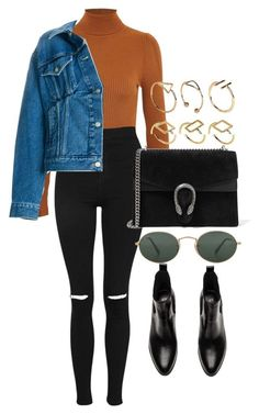 """Untitled #5165"" by olivia-mr ❤ liked on Polyvore featuring Topshop, Balenciaga, Ray-Ban, Gucci and ASOS #balenciaga"