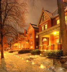 German Village at Christmastime--Deshler Avenue