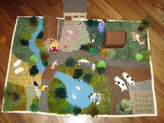Knitted Farm Yard - this would be so fun to make!