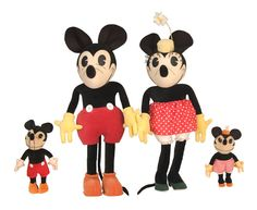In 1930 a new product was introduced to the public, a doll in the likeness of Mickey Mouse. This was produced, much to the delight of Walt and Roy Disney, by Charlotte Clark. Due to its overwhelming success, a year later in 1931, Minnie joined Mickey in toy departments across the United States. The fascinating story of Mrs. Clark is fully explained in both the Disneyana book by Munsey as well as issue #2 of Tomart's Disneyana UpdTHE-ULTIMATE-MICKEY-MINNIE-DOLLS-BY-CHARLOTTE-CLARK : Image 1…