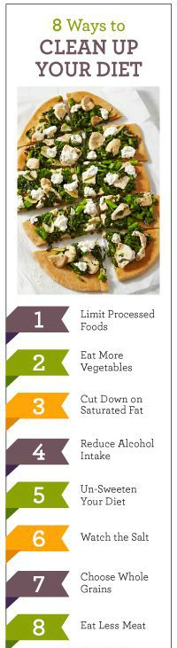 8 Ways to Clean up Your Diet  For more tips: www.facebook.com/PrettislimClinicIndia
