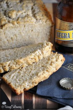 The easiest Beer Bread with brown sugar and a crispy buttery crust!