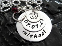 Mommy Necklace  - Personalized Jewelry  Hand Stamped by BragAboutIt