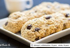 Zabpelyhes-kókuszos keksz Emőkétől Cookie Time, My Recipes, Favorite Recipes, Healthy Recipes, Healthy Food, Cookie Desserts, Cookie Recipes, Cereal, Paleo