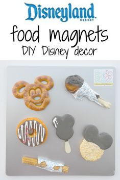 Disneyland food magnets DIY Disney decor