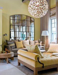 love the mirror! Green Space: New Beginnings - Traditional Home®
