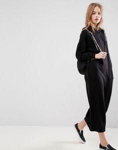 ASOS Maxi Hoody Dress - Black