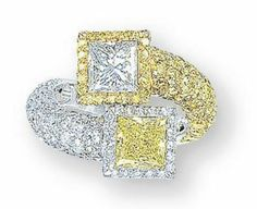 Yellow diamond ring Harry Winston  Christie's (I believe I should have this given to me just because that's my name!!!!)