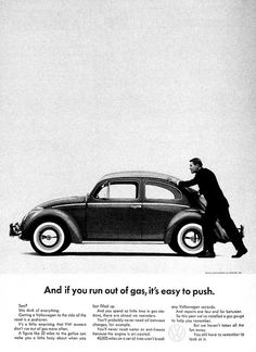 1960s Volkswagen ad - Beetle  I know that for fact.