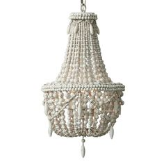 KunMai Classic Farmhouse Distressed Wood Beaded Basket Chandelier in Antique White/Gray (Antique White) Chandelier, How To Distress Wood, Small Chandelier, Shell Chandelier, Farmhouse Lighting, Wood Bead Chandelier, Large Chandeliers, Beaded Chandelier, Small Fixtures