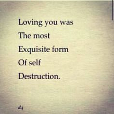 But in reality is that not the true destination of the love torn soul........