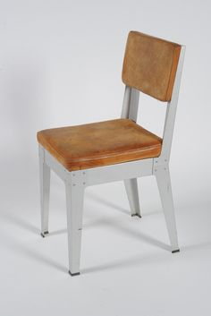 Aluminium Chair with Leather Cushions / Año: 1993 / Vendidas: Unas pocas