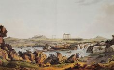 The Temple of Olympian Zeus and the Ilissus, copper engraving from edition by Ed. As Time Goes By, Southern Italy, Athens Greece, Ottoman Empire, Olympians, Paris Skyline, Temple, Art Gallery, Asia