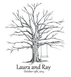 Guestbook thumbprint tree