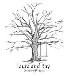 Guestbook thumbprint tree