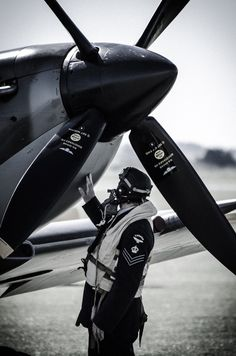 Spitfire and pilot, just beautiful... ;-)