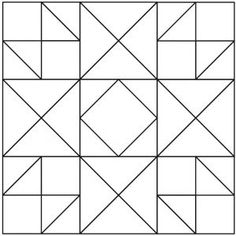 25 ideas for quilting Ohio Star blocks. Patchwork Quilting, Quilt Stitching, Quilting Tips, Scraps Quilt, Longarm Quilting, Quilt Square Patterns, Barn Quilt Patterns, Square Quilt, Paper Patterns
