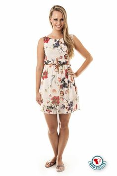 Béžové kvetované mini-šaty V&F Lomarco 8,99 € - zľava 26%