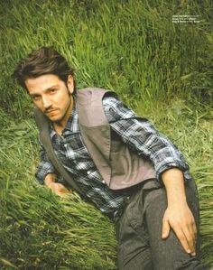 Just laying in a field in a waistcoat, making bedroom eyes. Diego Luna, Sw Rebels, Star Wars Cast, Bedroom Eyes, Ewok, Light Of My Life, Good Looking Men, Beautiful Boys, Cute Guys