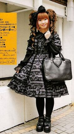 Although the name 'Gothic' Lolita alludes to goth fashion as a whole, the style is primarily influenced by classic Victorian inspired goth style and not cyber goth or industrial style.