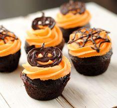 Шоколадные капкейки на Хэллоуин
