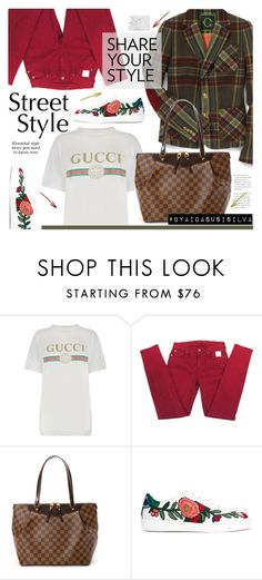"""Gucci T-shirt"" by aidasusisilva on Polyvore featuring C. Wonder, Gucci, 7 For All Mankind and Louis Vuitton"