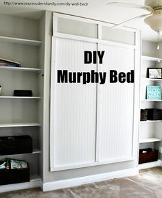 DIY Murphy bed for under $150 – with video and plans / says it took the 3 guys just 4 hours to make!