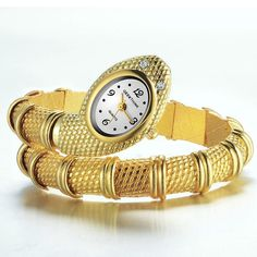 GEEKTHINK Unique Fashion Quartz Watch women Ladies Snake Shaped Bracelet   Supernatural Style