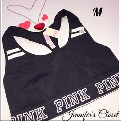 Victoria secret logo sports bra NO TRADES NO HOLDS  ‼️DO NOT RATE ME BASED UPON FIT/SIZE OF YOUR ITEM. ASK FOR MEASUREMENTS OR PURCHASE AT YOUR OWN RISK‼️  ✮SOME ITEMS MAY CONTAIN A SMALL BLACK DOT ◉ ON TAG OR INSIDE TO PREVENT STORE RETURNS. (THIS DOES NOT EFFECT CLOTHING OR SHOW WHILE WEARING THE ITEM). PINK Victoria's Secret Intimates & Sleepwear Bras