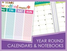 Love these calendard and personalized life planners....cool!