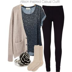 A fashion look from October 2013 featuring chambray top, vintage tops and blue pants. Browse and shop related looks. Teen Wolf Outfits, Lazy Day Outfits, Mode Outfits, Casual Outfits, School Outfits, Fall Winter Outfits, Autumn Winter Fashion, Teen Fashion, Fashion Outfits