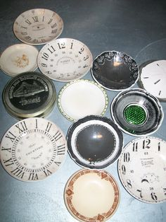 I want these clock face plates!!